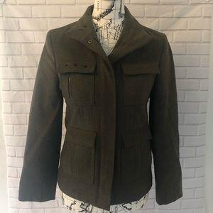 Club Monaco green wool utility coat blazer jacket
